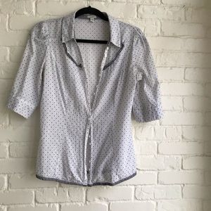 Anthropologie Odille short sleeve button down 4